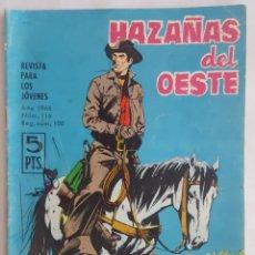 Tebeos: NOVELA OESTE / HAZAÑAS DEL OESTE Nº 116 /EDICIONES TORAY 1966 / FOTO CONTRAPORTADA MICAELA CENDALI. Lote 156412838
