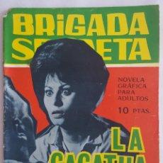 Tebeos: NOVELA POLICIACA / BRIGADA SECRETA / LA CACATUA NEGRA / EDICIONES TORAY Nº 173 1965. Lote 156537506
