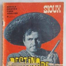 Tebeos: NOVELA OESTE / SIOUX / DESTINO DE PISTOLERO / EDICIONES TORAY Nº 50 1966. Lote 156566438