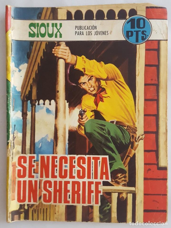 NOVELA OESTE / SIOUX / SE NECESITA UN SHERIFF / EDICIONES TORAY Nº 114 1968 (Tebeos y Comics - Toray - Sioux)