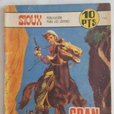 Tebeos: NOVELA OESTE / SIOUX / GRAN JEFE / EDICIONES TORAY Nº 143 1969. Lote 156567482