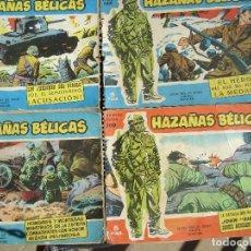 Tebeos: 4 NUMEROS DE HAZAÑAS BELICAS ANTIGUOS.. Lote 157339914