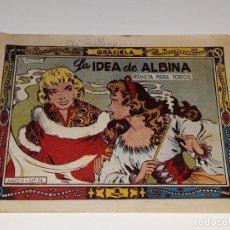 Tebeos: ANTIGUO COMIC COLECCION GRACIELA AÑO II Nº 74 - LA IDEA DE ALBINA - ED. TORAY AÑOS 50. Lote 157811570