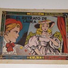 Tebeos: ANTIGUO COMIC COLECCION GRACIELA AÑO II Nº 67 - EL RETRATO DE LAURA - ED. TORAY AÑOS 50. Lote 157812510