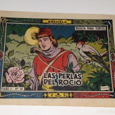 Livros de Banda Desenhada: ANTIGUO COMIC COLECCION GRACIELA AÑO II Nº 58 - LAS PERLAS DEL ROCIO - ED. TORAY AÑOS 50. Lote 157812910
