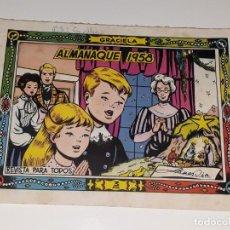 Livros de Banda Desenhada: ANTIGUO COMIC COLECCION GRACIELA Nº EXTRA - ALMANAQUE AÑO 1958 - ED. TORAY . Lote 157815114