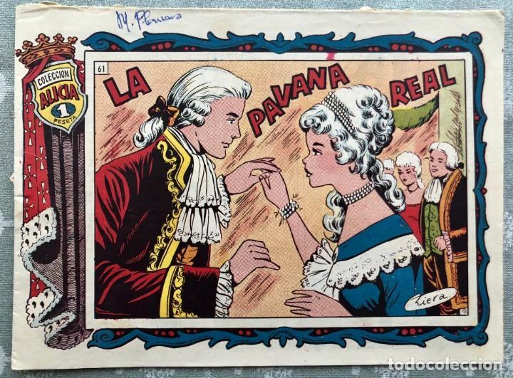 COLECCION ALICIA Nº 61. TORAY 1955. LA PAVANA REAL (Tebeos y Comics - Toray - Alicia)