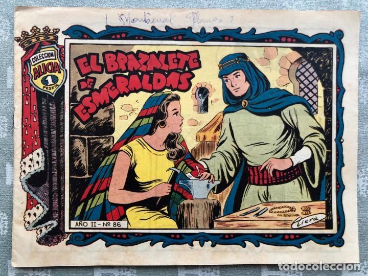 COLECCION ALICIA Nº 86. TORAY 1955. EL BRAZALETE DE ESMERALDAS (Tebeos y Comics - Toray - Alicia)