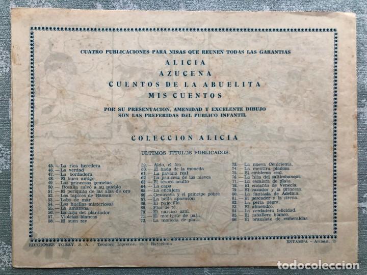 Tebeos: COLECCION ALICIA Nº 86. TORAY 1955. EL BRAZALETE DE ESMERALDAS - Foto 2 - 158337698