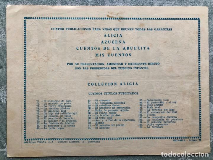 Tebeos: COLECCION ALICIA Nº 106. TORAY 1955. LA ZURCIDORA - Foto 2 - 158337830