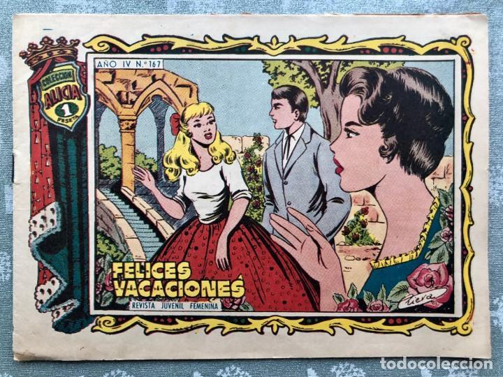 COLECCION ALICIA Nº 167. TORAY 1955. FELICES VACACIONES (Tebeos y Comics - Toray - Alicia)