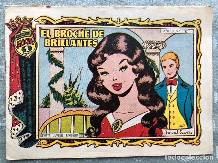 COLECCION ALICIA Nº 197. TORAY 1955. EL BROCHE DE BRILLANTES (Tebeos y Comics - Toray - Alicia)