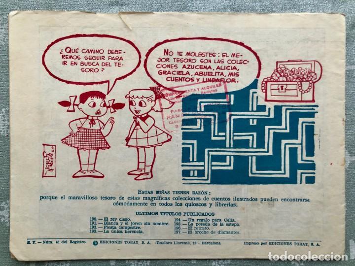 Tebeos: COLECCION ALICIA Nº 197. TORAY 1955. EL BROCHE DE BRILLANTES - Foto 2 - 158338274
