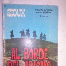 Tebeos: SIOUX - Nº 51 -AL BORDE DEL ABISMO- 1966 - GRAN ANTONIO MÁS- BUENO- MUY DIFÍCIL-LEAN-0749. Lote 159283302