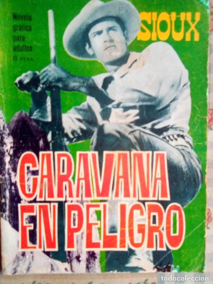 SIOUX - Nº 57 -CARAVANA EN PELIGRO - 1966- GRAN ANTONIO PÉREZ- BUENO- MUY DIFÍCIL-EAN-0751 (Tebeos y Comics - Toray - Sioux)