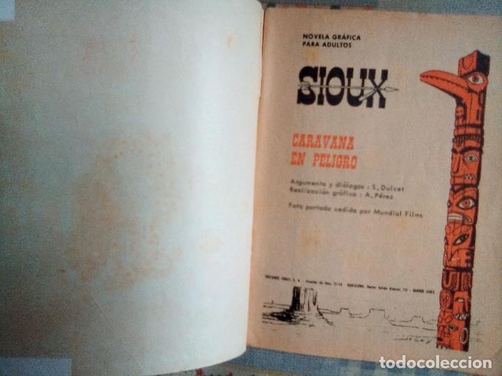 Tebeos: SIOUX - Nº 57 -CARAVANA EN PELIGRO - 1966- GRAN ANTONIO PÉREZ- BUENO- MUY DIFÍCIL-EAN-0751 - Foto 4 - 159285586