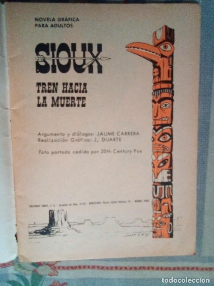 Tebeos: SIOUX - Nº 73 -TREN HACIA LA MUERTE - 1967- GRAN JOSÉ DUARTE- MUY BUENO- MUY DIFÍCIL-EAN-0753 - Foto 4 - 159287750