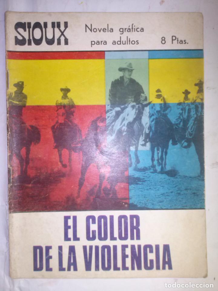 SIOUX - Nº 84 - EL COLOR DE LA VIOLENCIA- 1967- GRAN RAFAEL LÓPEZ ESPÍ- BUENO- MUY DIFÍCIL-LEAN-0756 (Tebeos y Comics - Toray - Sioux)