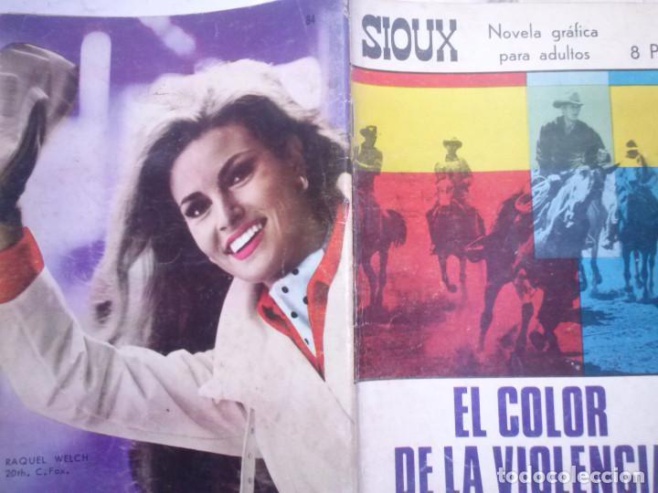 Tebeos: SIOUX - Nº 84 - EL COLOR DE LA VIOLENCIA- 1967- GRAN RAFAEL LÓPEZ ESPÍ- BUENO- MUY DIFÍCIL-LEAN-0756 - Foto 2 - 159300150