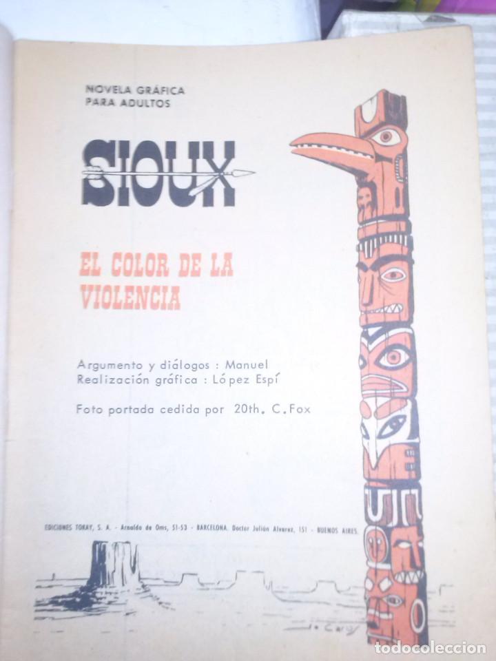 Tebeos: SIOUX - Nº 84 - EL COLOR DE LA VIOLENCIA- 1967- GRAN RAFAEL LÓPEZ ESPÍ- BUENO- MUY DIFÍCIL-LEAN-0756 - Foto 4 - 159300150