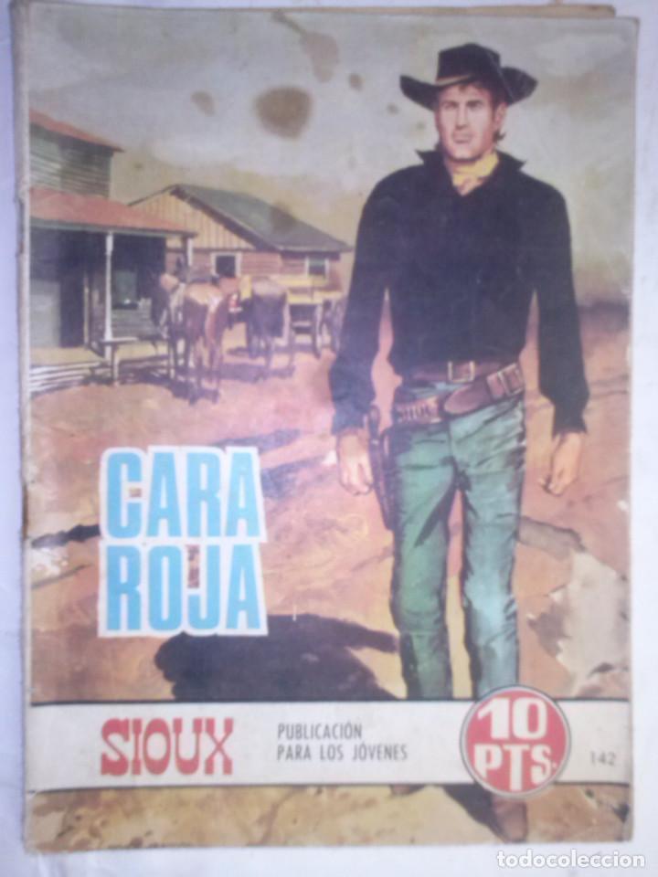 SIOUX - Nº 142 - CARA ROJA- 1969- GRAN RAFAEL LÓPEZ ESPÍ- BUENO- MUY DIFÍCIL-LEAN-0758 (Tebeos y Comics - Toray - Sioux)