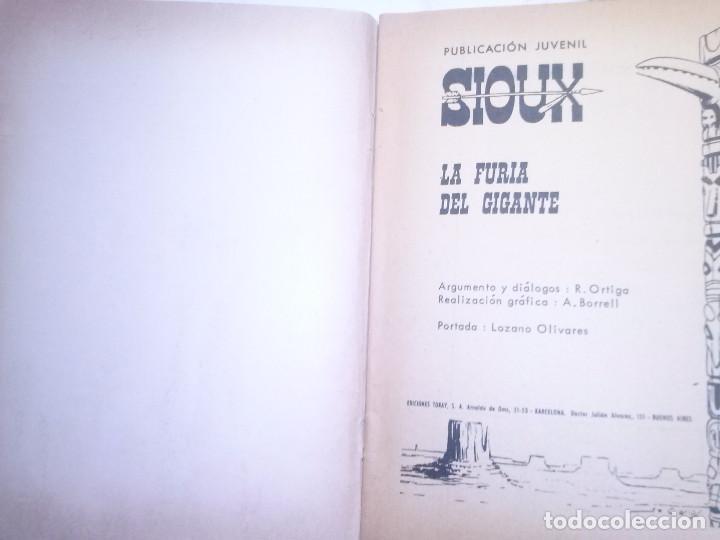 Tebeos: SIOUX - Nº 165 -LA FURIA DEL GIGANTE - 1970- GRAN ANTONIO BORRELL- BUENO- MUY DIFÍCIL- LEAN- 0760 - Foto 4 - 159303794