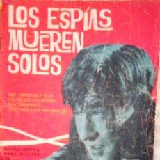 Tebeos: ESPIONAJE - Nº 1 - LOS ESPÍAS MUEREN SOLOS-GRAN J. ANTº HUÉSCAR-1965-M.REGULAR- M.DIFÍCIL-LEA-4335. Lote 253225305