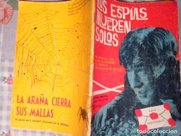Tebeos: ESPIONAJE - Nº 1 - LOS ESPÍAS MUEREN SOLOS-GRAN J. ANTº HUÉSCAR-1965-M.REGULAR- M.DIFÍCIL-LEA-4335 - Foto 2 - 253225305