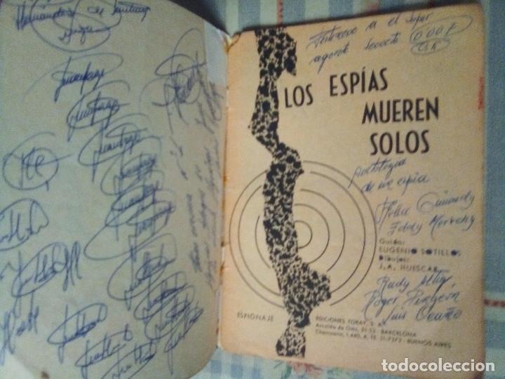 Tebeos: ESPIONAJE - Nº 1 - LOS ESPÍAS MUEREN SOLOS-GRAN J. ANTº HUÉSCAR-1965-M.REGULAR- M.DIFÍCIL-LEA-4335 - Foto 4 - 253225305