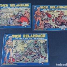 BDs: DICK RELAMPAGO / 3 EJEMPLARES ( 24-25-27 ) ED. TORAY AÑO 1959 / SIN USAR. Lote 159552986