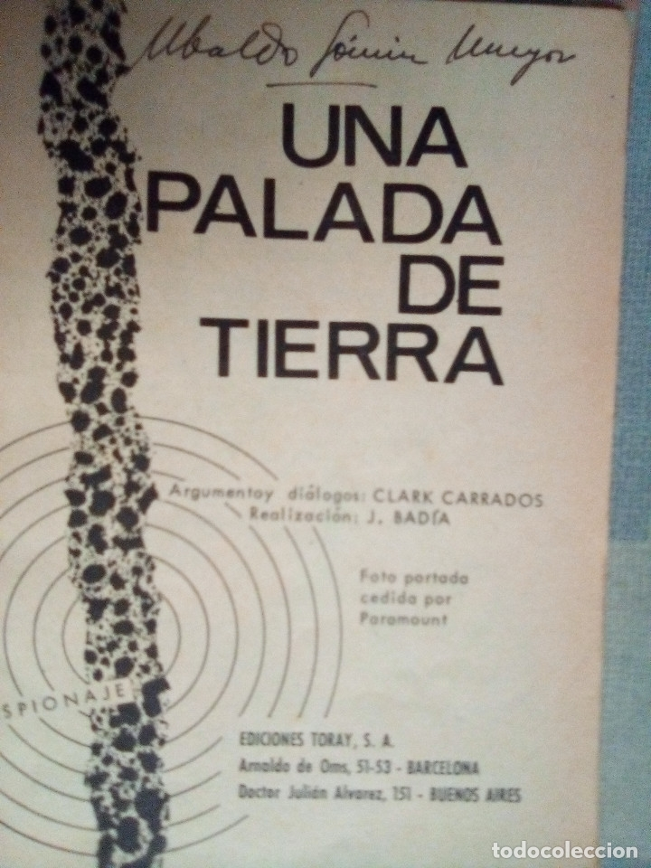 Tebeos: ESPIONAJE - Nº 20 -UNA PALADA DE TIERRA - GRAN JORGE BADÍA-1965-BUENO- ESCASO-DIFÍCIL-LEAN-0813 - Foto 4 - 159778296