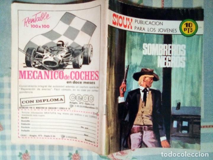 Tebeos: SIOUX - Nº 179 -SOMBREROS NEGROS - 1971- GRAN JOSÉ DUARTE-MUY BUENO- MUY DIFÍCIL- LEAN- 0815 - Foto 2 - 159785310