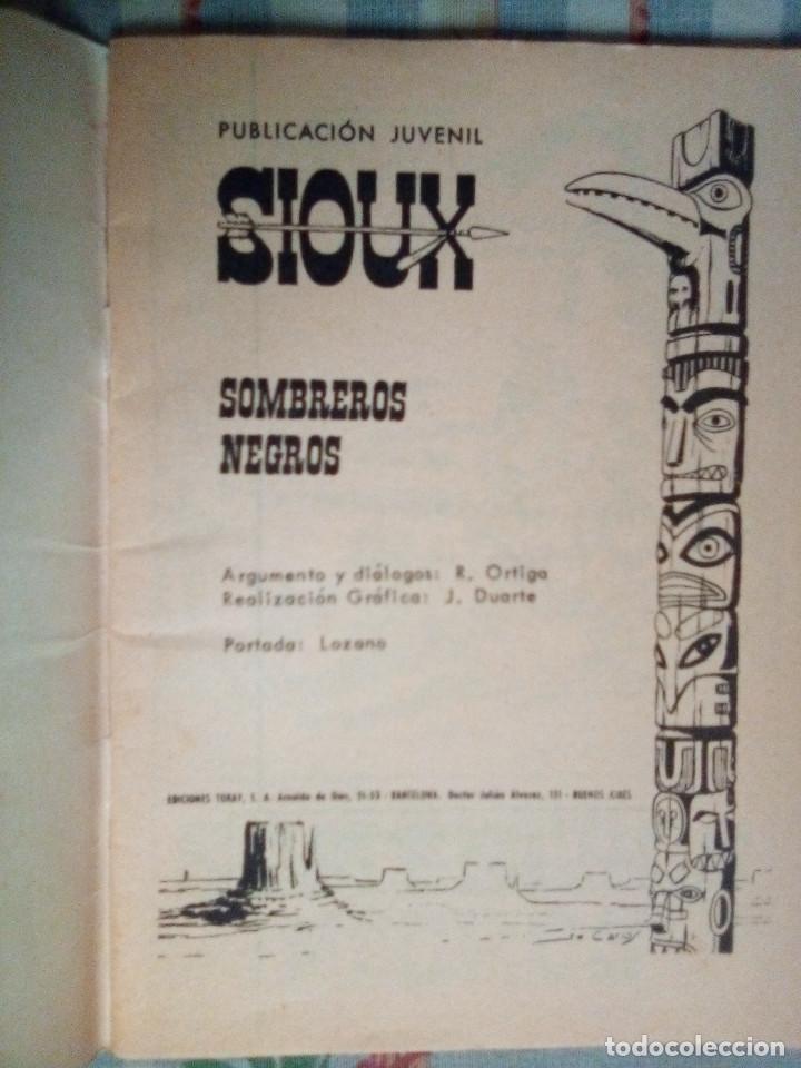Tebeos: SIOUX - Nº 179 -SOMBREROS NEGROS - 1971- GRAN JOSÉ DUARTE-MUY BUENO- MUY DIFÍCIL- LEAN- 0815 - Foto 4 - 159785310