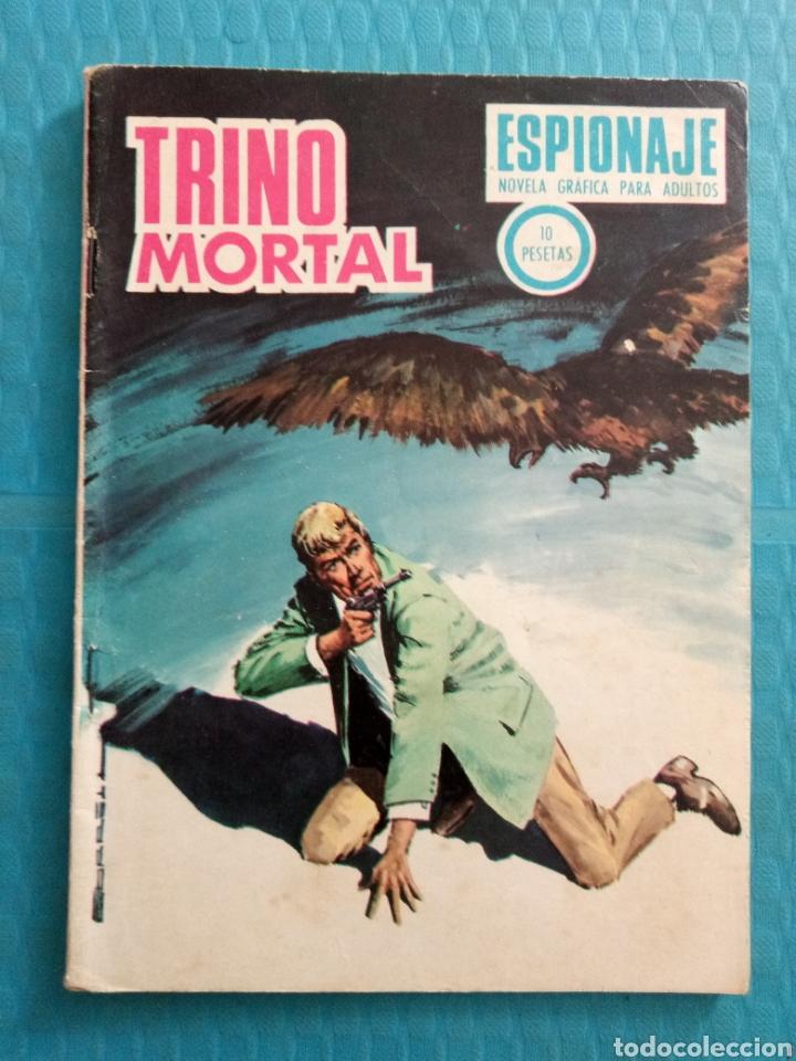 TRINO MORTAL AÑO 1967 EDICIONES TORAY ESPIONAJE NOVELA GRÁFICA PARA ADULTOS 10 PESETAS (Tebeos y Comics - Toray - Espionaje)
