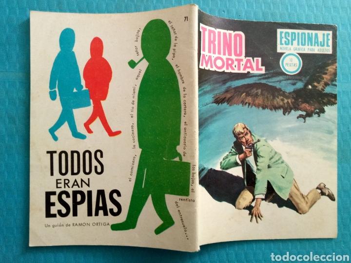 Tebeos: TRINO MORTAL AÑO 1967 EDICIONES TORAY ESPIONAJE NOVELA GRÁFICA PARA ADULTOS 10 PESETAS - Foto 2 - 160143868