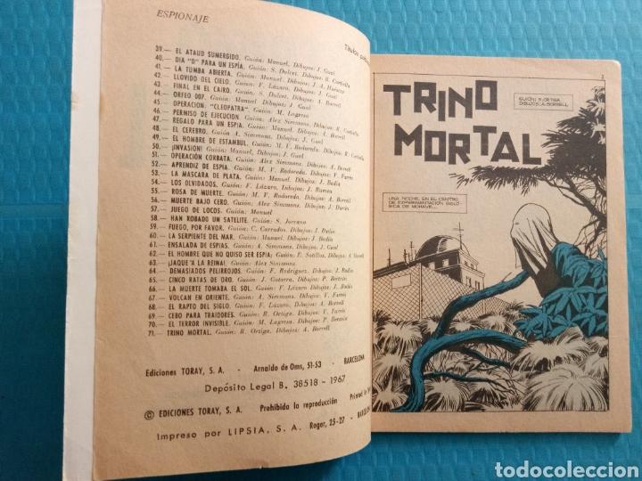 Tebeos: TRINO MORTAL AÑO 1967 EDICIONES TORAY ESPIONAJE NOVELA GRÁFICA PARA ADULTOS 10 PESETAS - Foto 3 - 160143868