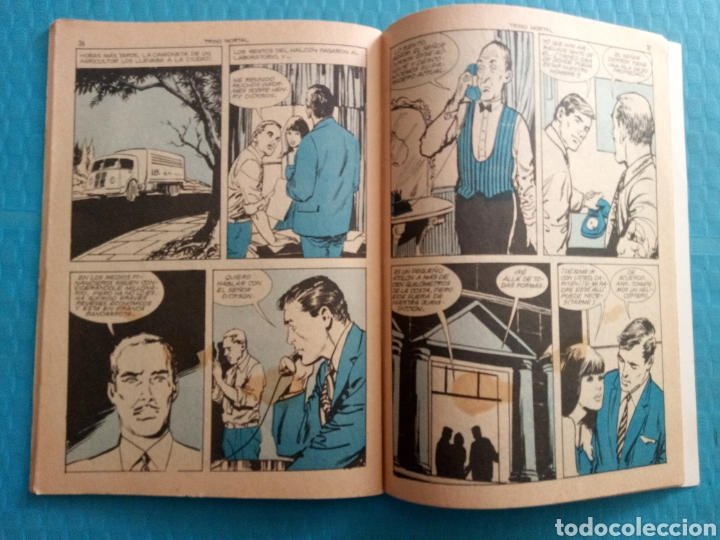 Tebeos: TRINO MORTAL AÑO 1967 EDICIONES TORAY ESPIONAJE NOVELA GRÁFICA PARA ADULTOS 10 PESETAS - Foto 4 - 160143868
