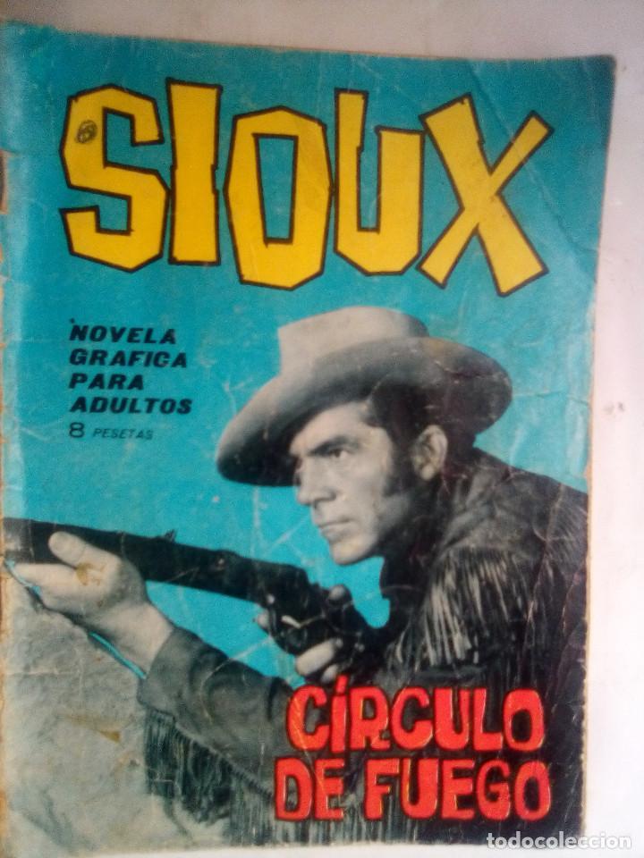 SIOUX- Nº 32 -CÍRCULO DE FUEGO- 1965-GRAN A. PÉREZ-BUENO-DIFÍCIL-LEAN-0842 (Tebeos y Comics - Toray - Sioux)