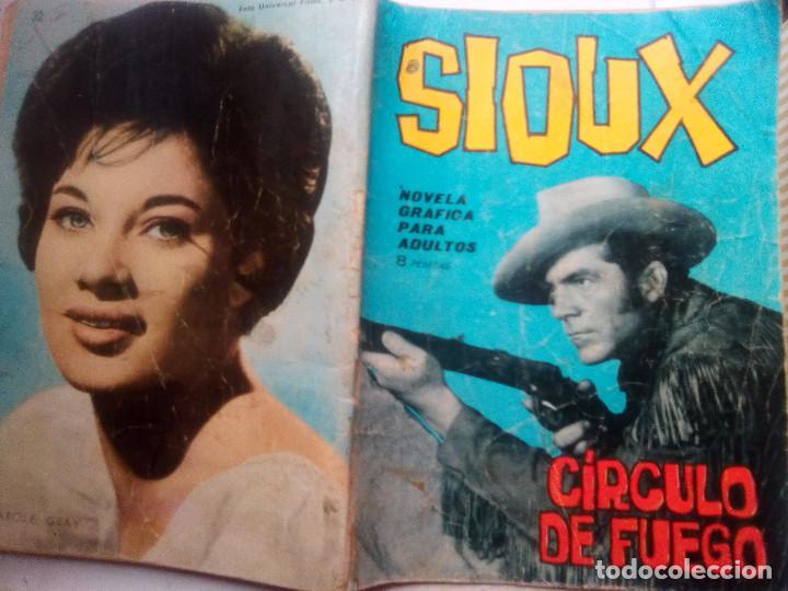 Tebeos: SIOUX- Nº 32 -CÍRCULO DE FUEGO- 1965-GRAN A. PÉREZ-BUENO-DIFÍCIL-LEAN-0842 - Foto 2 - 160183362