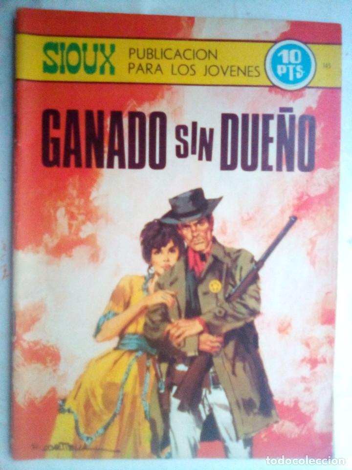 SIOUX - Nº 145 - GANADO SIN DUEÑO- 1969- GRAN JOSÉ DUARTE- MUY BUENO- MUY DIFÍCIL-LEAN-0848 (Tebeos y Comics - Toray - Sioux)