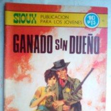 Tebeos: SIOUX - Nº 145 - GANADO SIN DUEÑO- 1969- GRAN JOSÉ DUARTE- MUY BUENO- MUY DIFÍCIL-LEAN-0848. Lote 160399802
