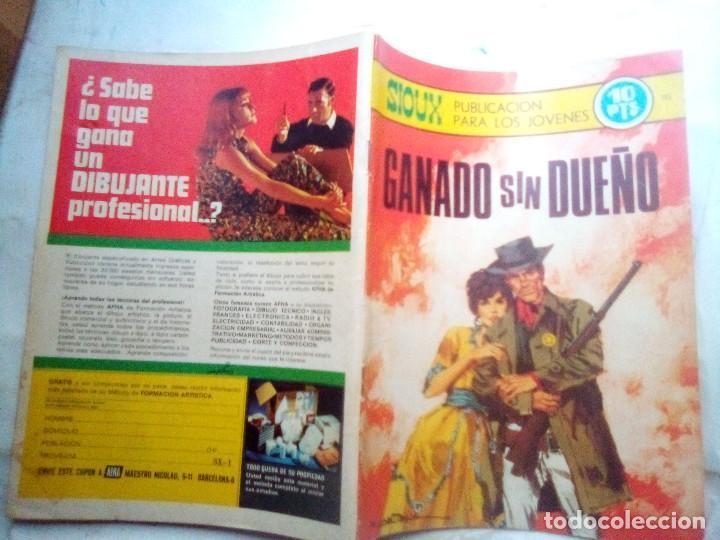 Tebeos: SIOUX - Nº 145 - GANADO SIN DUEÑO- 1969- GRAN JOSÉ DUARTE- MUY BUENO- MUY DIFÍCIL-LEAN-0848 - Foto 2 - 160399802