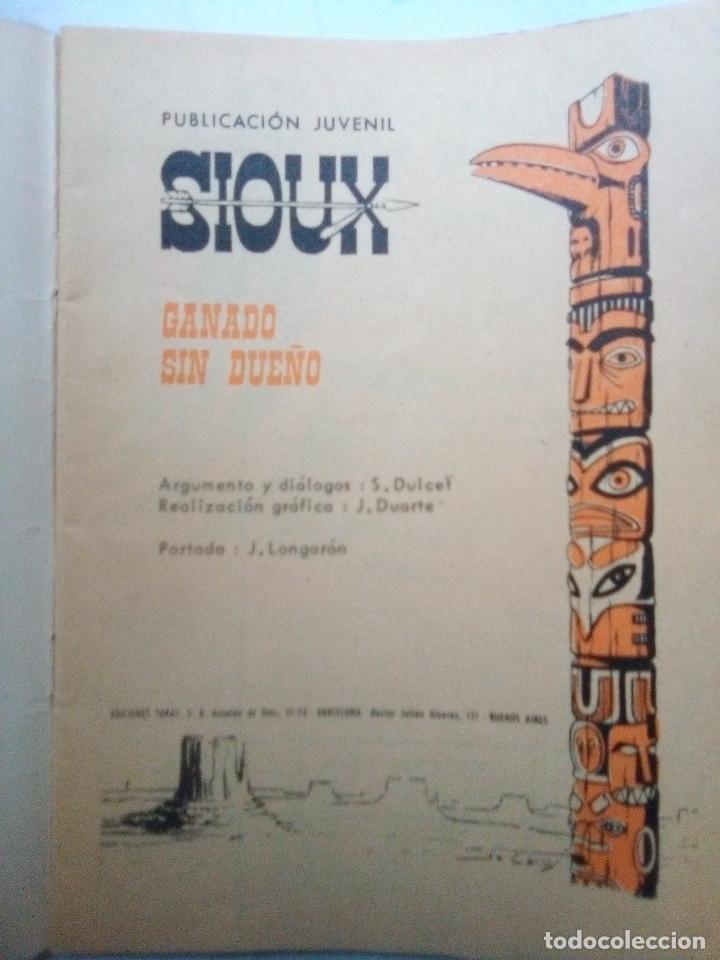Tebeos: SIOUX - Nº 145 - GANADO SIN DUEÑO- 1969- GRAN JOSÉ DUARTE- MUY BUENO- MUY DIFÍCIL-LEAN-0848 - Foto 4 - 160399802