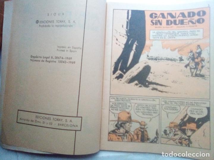 Tebeos: SIOUX - Nº 145 - GANADO SIN DUEÑO- 1969- GRAN JOSÉ DUARTE- MUY BUENO- MUY DIFÍCIL-LEAN-0848 - Foto 5 - 160399802