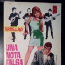 Tebeos: TORBELLINO Nº 31 - UNA NOTA FALSA - TORAY, 1967 - NOVELA GRÁFICA PARA ADULTOS. Lote 160726798