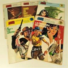 Tebeos: PUBLICACIÓN JUVENIL. APACHE. 5 EJEMPLARES. EDI. TORAY. BARCELONA. 1975/1995.. Lote 161081658