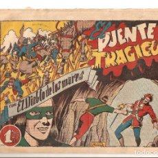 Tebeos: TEBEO EL DIABLO DE LOS MARES Nº 59 EL PUENTE TRAGICO ORIGINAL 1947 EDICIONES TORAY OFERTA MIRA !!. Lote 161411566