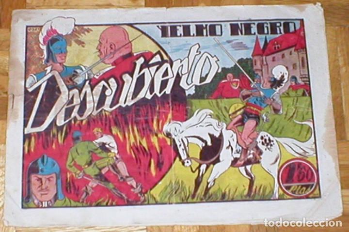 TEBEO YELMO NEGRO Nº 6 DESCUBIERTO ORIGINAL 1947 EDICIONES TORAY MUY RARO !! DIFÍCIL !! OFERTA !! (Tebeos y Comics - Toray - Otros)