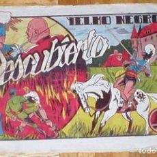 Tebeos: TEBEO YELMO NEGRO Nº 6 DESCUBIERTO ORIGINAL 1947 EDICIONES TORAY MUY RARO !! DIFÍCIL !! OFERTA !!. Lote 161496486