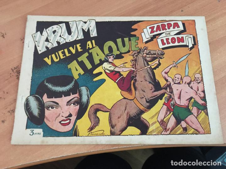 ZARPA DE LEON ALBUM XIX 19 KRUM VUELVE AL ATAQUE (ORIGINAL TORAY ) (COIM27) (Tebeos y Comics - Toray - Zarpa de León)